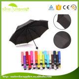 guarda-chuva de dobramento da chuva do guarda-chuva 3 da senhora Sun da promoção 21inch