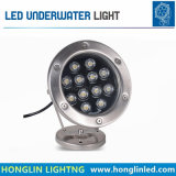 Paisagem que ilumina lâmpadas subaquáticas do diodo emissor de luz do aço inoxidável IP68 12W