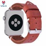 Courroie molle amicale de bande de montre de cuir véritable de cru d'Eco pour Apple Iwatch