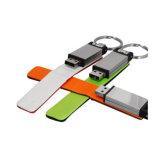 즐거운 휴일 가죽 USB 섬광 드라이브를 인쇄하는 로고