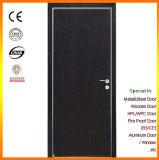 Intérieur en bois des portes battantes avec bord en aluminium