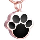 Joyería conmemorativa pendiente del collar de la urna de la cremación del perro del gato del animal doméstico de la dimensión de una variable de la pata