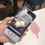 Anti coperchio della cassa del telefono del fumetto del riduttore 3D di sforzo per il iPhone X