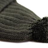 Cappello del Beanie di inverno lavorato a maglia abitudine con il marchio