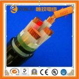 Медный проводник XLPE изолировал обшитый PVC огнезащитный кабель электропитания