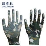 les gants en nylon de travail de jardin du polyester 13G avec des nitriles ont enduit
