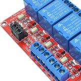 5V/12V/24V 4チャネルのリレーモジュールSupporttheの高く、低レベルのトリガー(赤いボード)