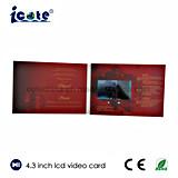 un'affissione a cristalli liquidi da 4.3 pollici personalizza la bella video scheda del Opuscolo-Video per la cerimonia nuziale
