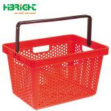 Griff-Doppelt-Griff-Plastiksupermarkt-Einkaufskorb aussondern