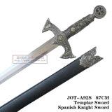 Decoração Home 87cm Jot-A92g/Jot-A92s da tabela das espadas do cavaleiro da decoração