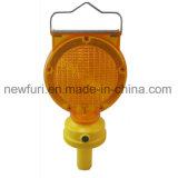 Indicatore luminoso solare della barriera dell'indicatore luminoso d'avvertimento LED di rischio del lampeggiatore