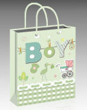 Comercio al por mayor papel azul bolsa de regalo para Baby Shower