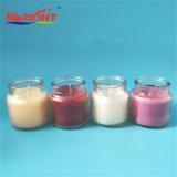 Hölzerner Ölerfilz-duftende Glasglas-Kerzen für Verkauf