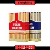 Os cartões de jogo dedicados do póquer de 100% Texas Holdem clube plástico esfregam o cartão do PVC dos caráteres (YM-PC04)