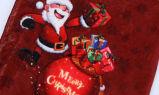 Baixada morna de veludo de cristal do Natal