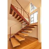 Escaleras de madera de acero del diseño moderno de ms Staircase Design
