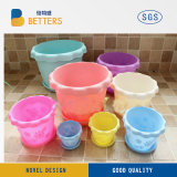 Logotipo personalizado da Plantadeira de plástico decorativas Pot pequenos vasos