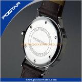 Verre minéral de la mode dans le fond de haute qualité de la vis de la nouveauté montre-bracelet