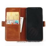 Lederner Mappen-Kasten-Telefon-Kasten für Telefone iPhone Samsung-Huawei