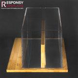 Crémaillère d'étalage de lunettes de soleil faite à partir de l'acrylique et du bambou