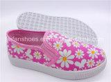 Hotsale scherza le calzature dell'iniezione dei pattini casuali dei pattini di tela di canapa dello Slip-on (ZL1017-4)