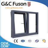 Doppia lastra di vetro fuori della finestra impermeabile della finestra di alluminio della stoffa per tendine di apertura