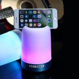 Di Ebay del migliore indicatore luminoso variopinto di vendita mini Bluetooth lampada 2018 dell'altoparlante del USB