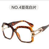 Grand châssis plastique des lunettes de soleil Lunettes de soleil Fashion Hommes