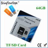 Конец микро- карточки SD окончательный упакованный в розничный упаковывать