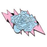 브로치 Pin (xd-059)를 위한 도매 꽃 사기질 접어젖힌 옷깃 Pin 기장