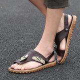 Нового Рима мужчин сандалии обувь из натуральной кожи корейской молодежи мягкого Кожаные босоножки мода личности
