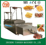 Alimento automático Heated do petisco do grupo do gás que frita a máquina