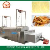 Casse-croûte automatique chauffé au gaz en lots faisant frire la machine
