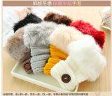 Перчатки перчаток зимы половинным связанные кашемиром для вспомогательного оборудования способа женщин