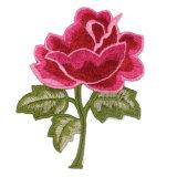 ローズのアップリケ刺繍の花パッチのカスタム鉄