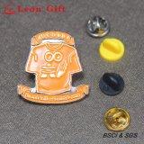 昇進のギフト(LM1054)のための卸し売りカスタムエナメルの金属の折りえりPin