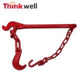 Красный цвет G80легированная сталь буксировочная проушина цепи с крюка