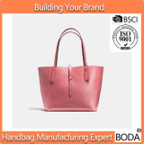 La borsa di cuoio del Tote delle donne del progettista accetta l'adattamento (BDX-171108)