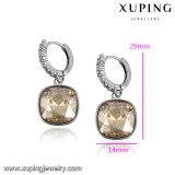 93747 Fashion Square Zircon Eardrop de joyas cristales de Swarovski Pendientes joyería