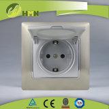 Ce/TUV/BV сертифицирован Европейским стандартом металлический цинк 1 токопроводящей дорожки GOLD Shuko пылезащитный колпачок разъема