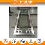 Única porta de alumínio do Casement da faixa com vidro decorativo