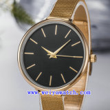 El reloj modifica el reloj de señoras para requisitos particulares de la voga del acero inoxidable (WY-17037A)