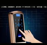 Fechamento de porta biométrico do apartamento do acesso da impressão digital