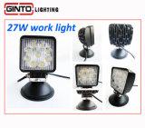 둥근 사각 15W, 18W 의 트럭 Offroad 차량을%s 27W LED 일 빛
