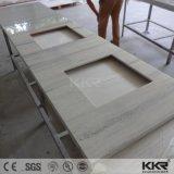 Sanitaires fait sur mesure de l'acrylique Surface solide vanité en haut pour la salle de bains (171202)