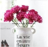 Garofano poco costoso all'ingrosso del fiore della seta artificiale da vendere il garofano che Wedding Boquet nuziale