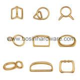 """5/8 """" di anello a """"D"""" d'ottone solido per il collare dell'animale domestico"""