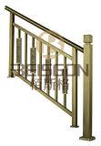 Balaustrada do aço inoxidável da manufatura 304# da fábrica que cinzela o trilho de bronze