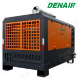 O acoplamento directo ligado Parado Compressor de ar de parafuso de Diesel com martelo de macaco