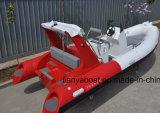 Liya 17ft/5,2m costilla lujo bote hinchable con el motor para la venta